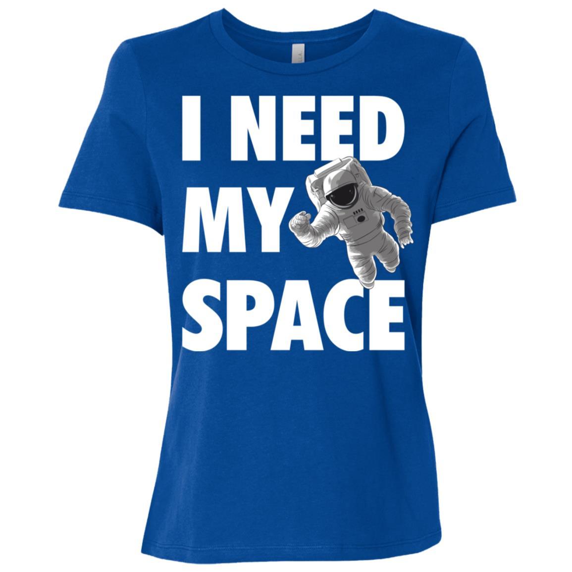 Funny I Need Space Astronaut Galaxy Science Geek Gift Women Short Sleeve T-Shirt