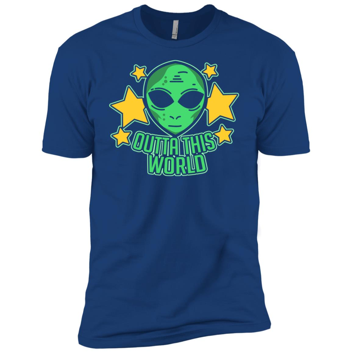 Space Alien Ls Outta This World Funny Cute Gift Tee Men Short Sleeve T-Shirt