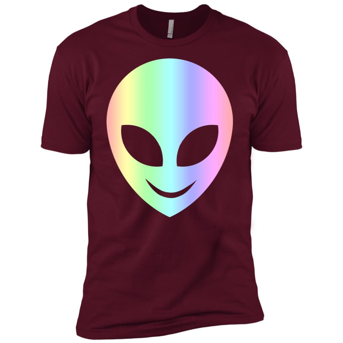 Smile Happy Alien Cool Funny Smiling Head Aliens Tee Men Short Sleeve T-Shirt