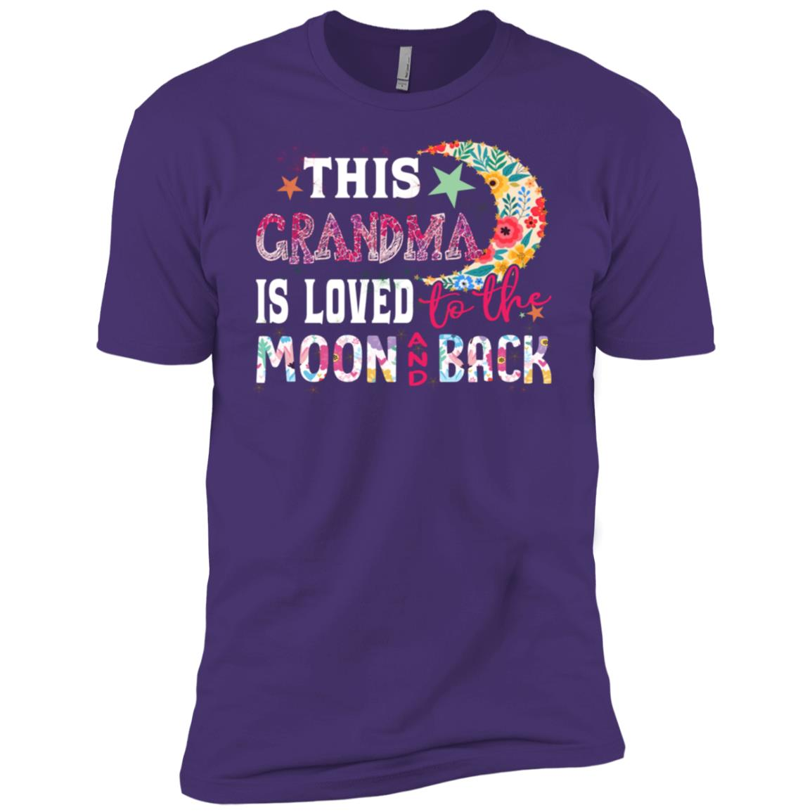 This Grandma Is Loved To The Moon And Back s Men Short Sleeve T-Shirt