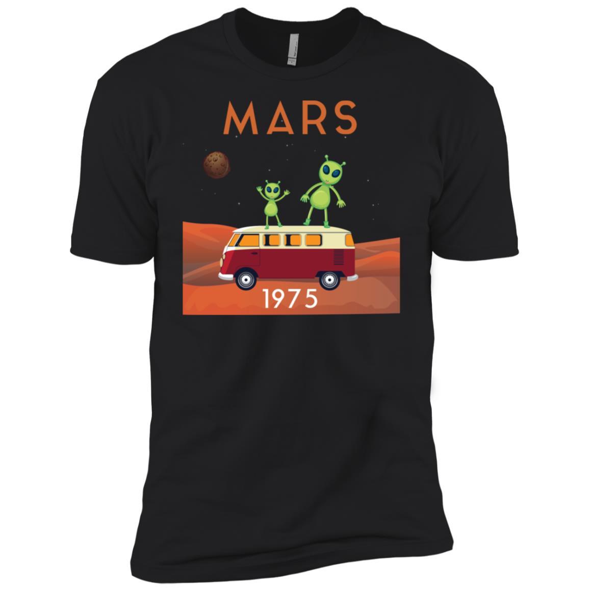Mars 1975 Funny Alien Outer Space Gift Men Short Sleeve T-Shirt