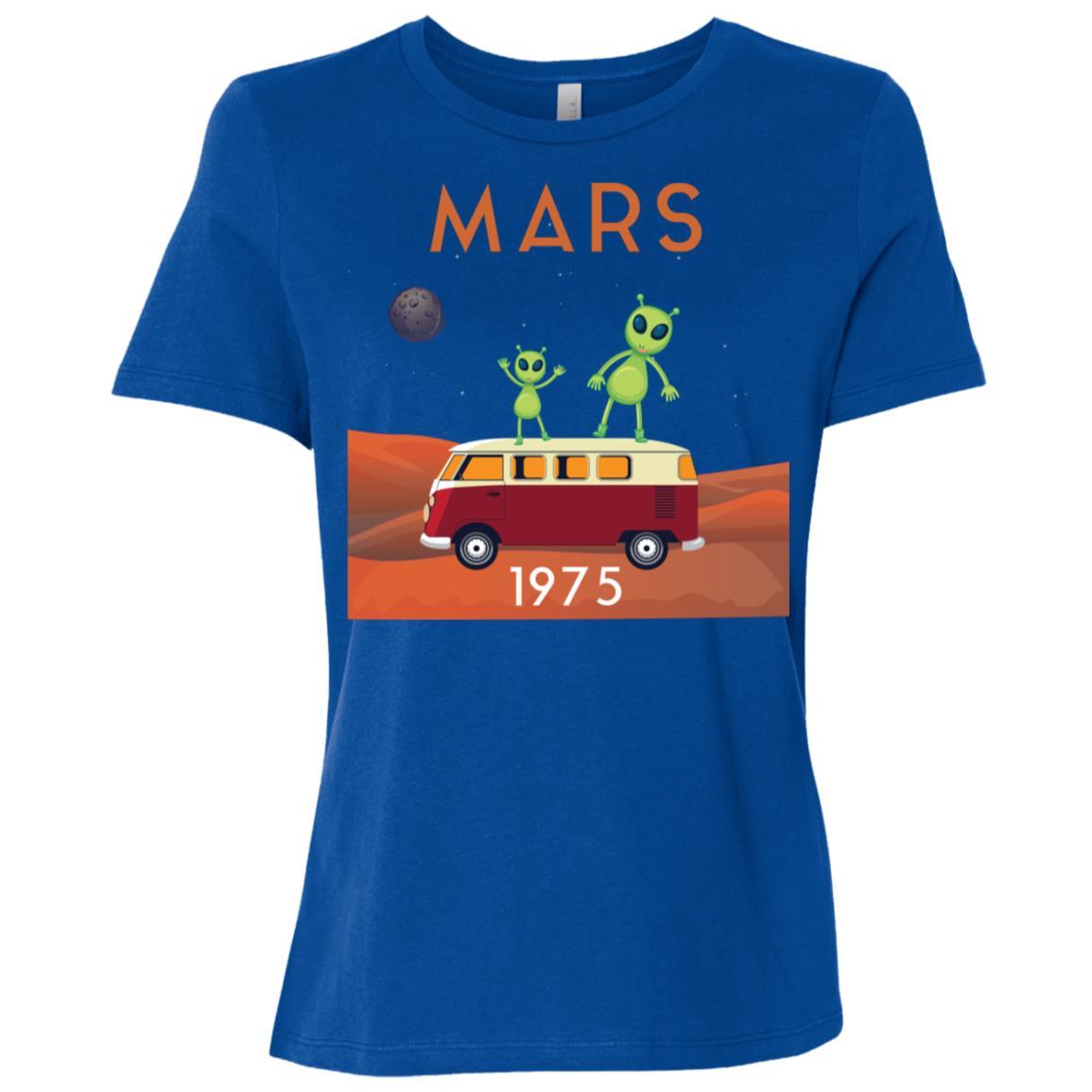 Mars 1975 Funny Alien Outer Space Gift Women Short Sleeve T-Shirt