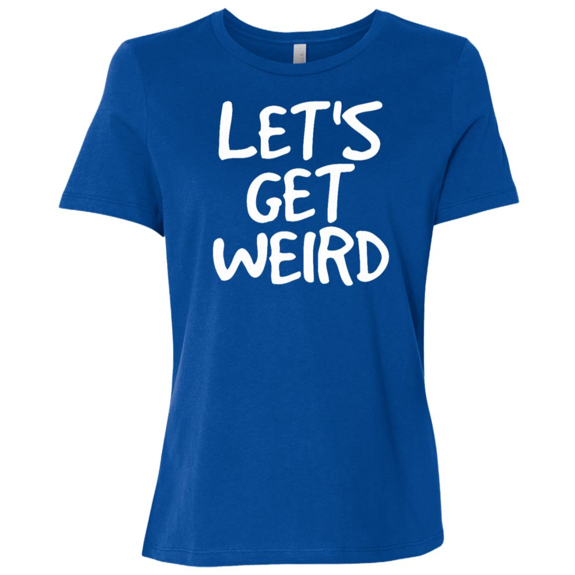 Let's Get Weird Funny Edm Alien Rave Party Gift Idea Women Short Sleeve T-Shirt
