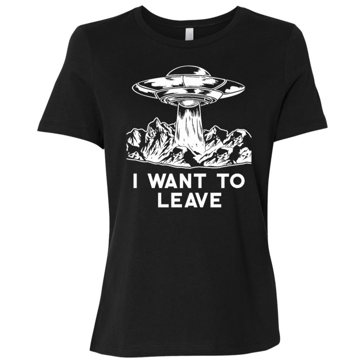 I Want To Leave Ufo Women Short Sleeve T-Shirt
