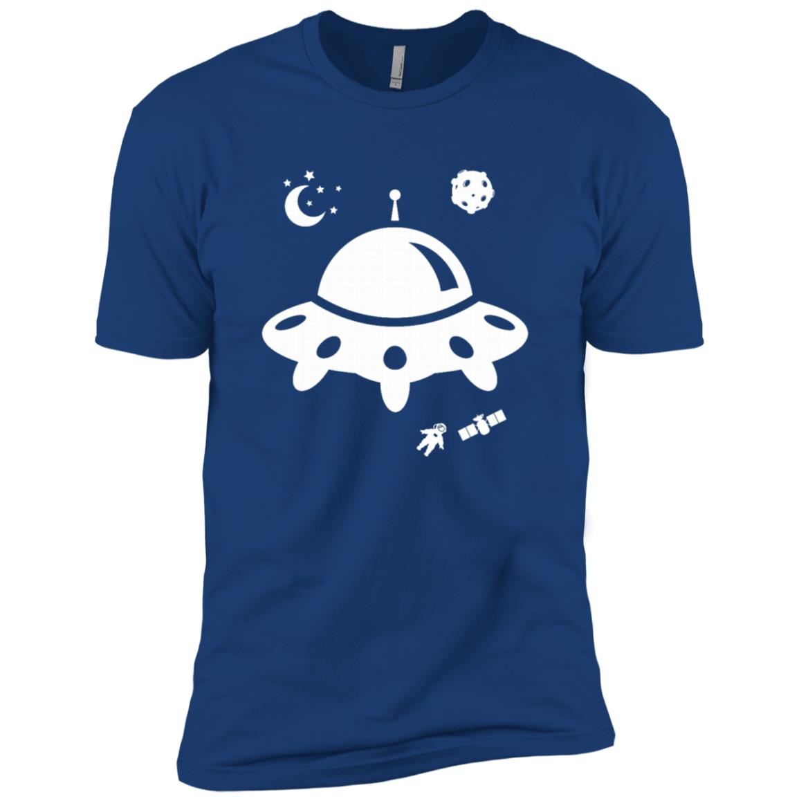 Ufo Spaceship Funny Alien Birthday Gift Men Short Sleeve T-Shirt