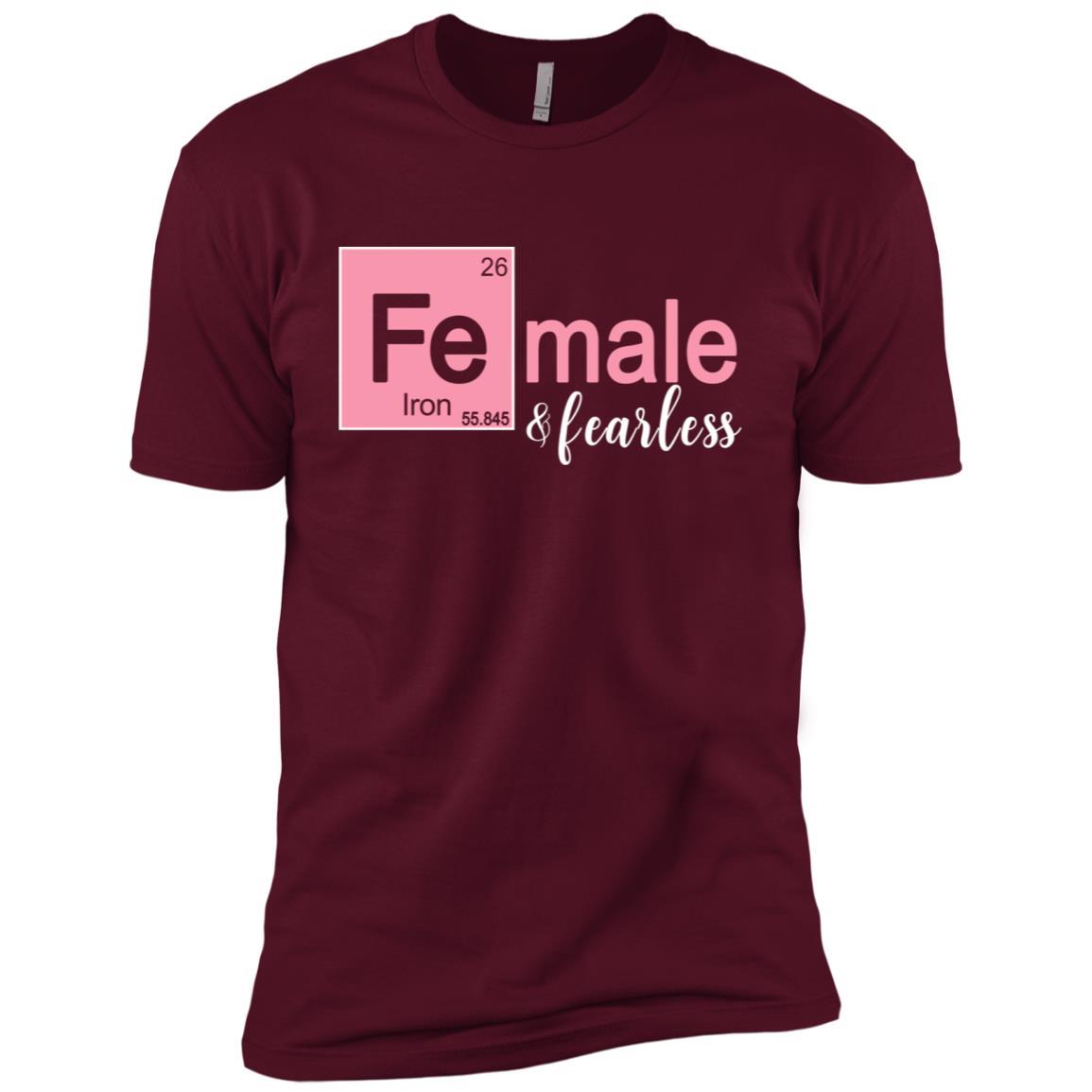 Female & Fearless Funny Stem Tee for Women & Girls Men Short Sleeve T-Shirt