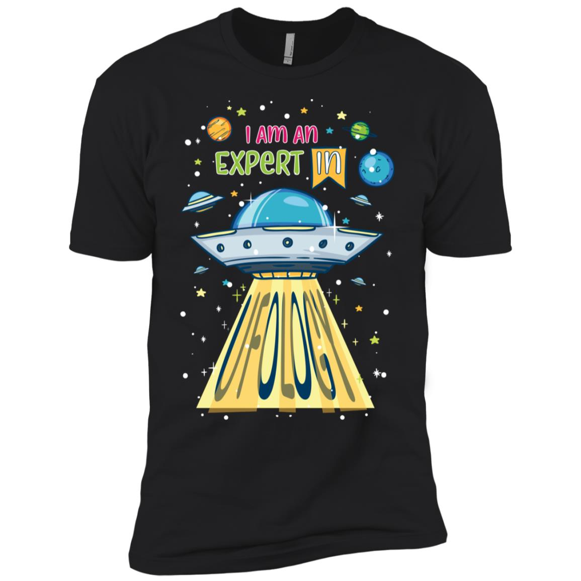 I Am An Expert In Ufology Ls Funny Ufo Alien Men Short Sleeve T-Shirt