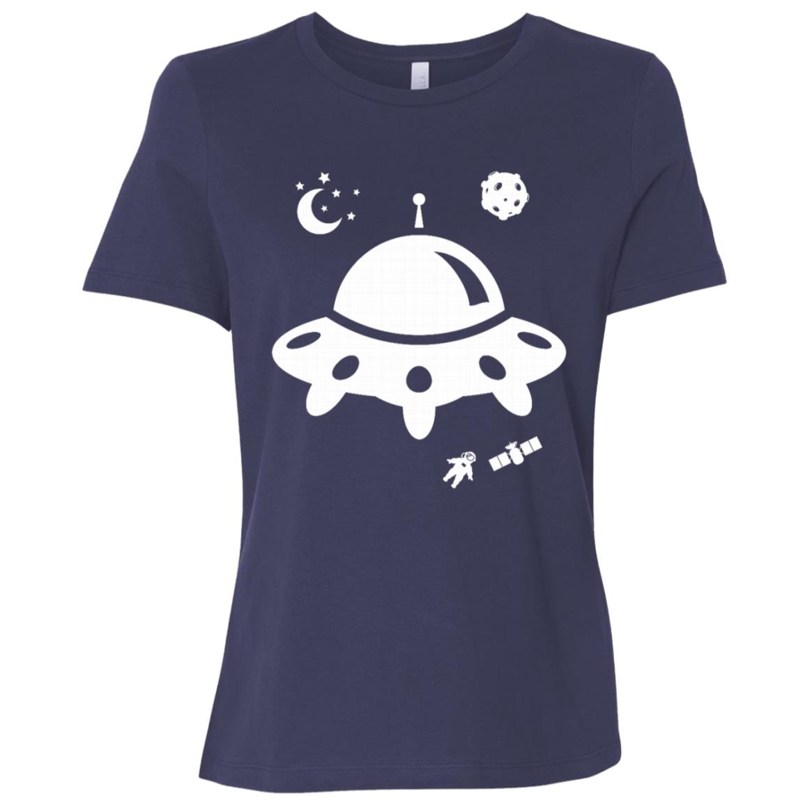 Ufo Spaceship Funny Alien Birthday Gift Women Short Sleeve T-Shirt