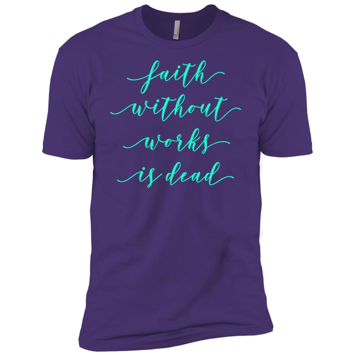 Faith Without Works Is Dead Aa Na Sobriety Fall Tee Men Short Sleeve T-Shirt