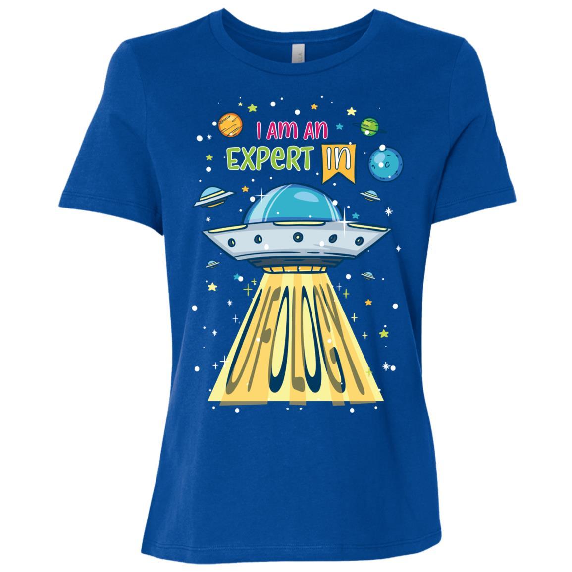 I Am An Expert In Ufology Ls Funny Ufo Alien Women Short Sleeve T-Shirt