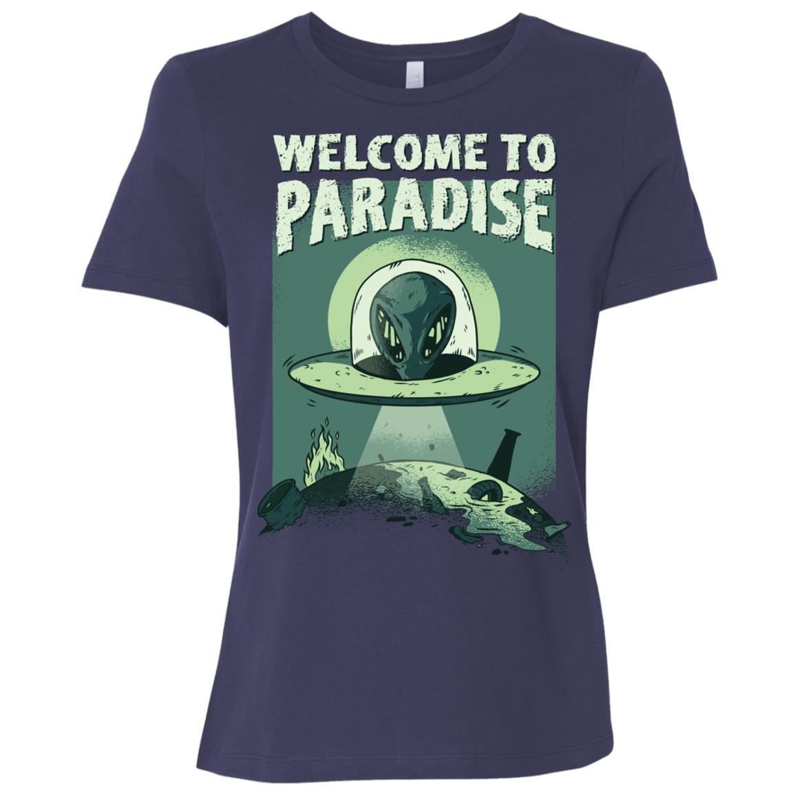Welcome To Paradise Alien Planet Ufo – Women Short Sleeve T-Shirt