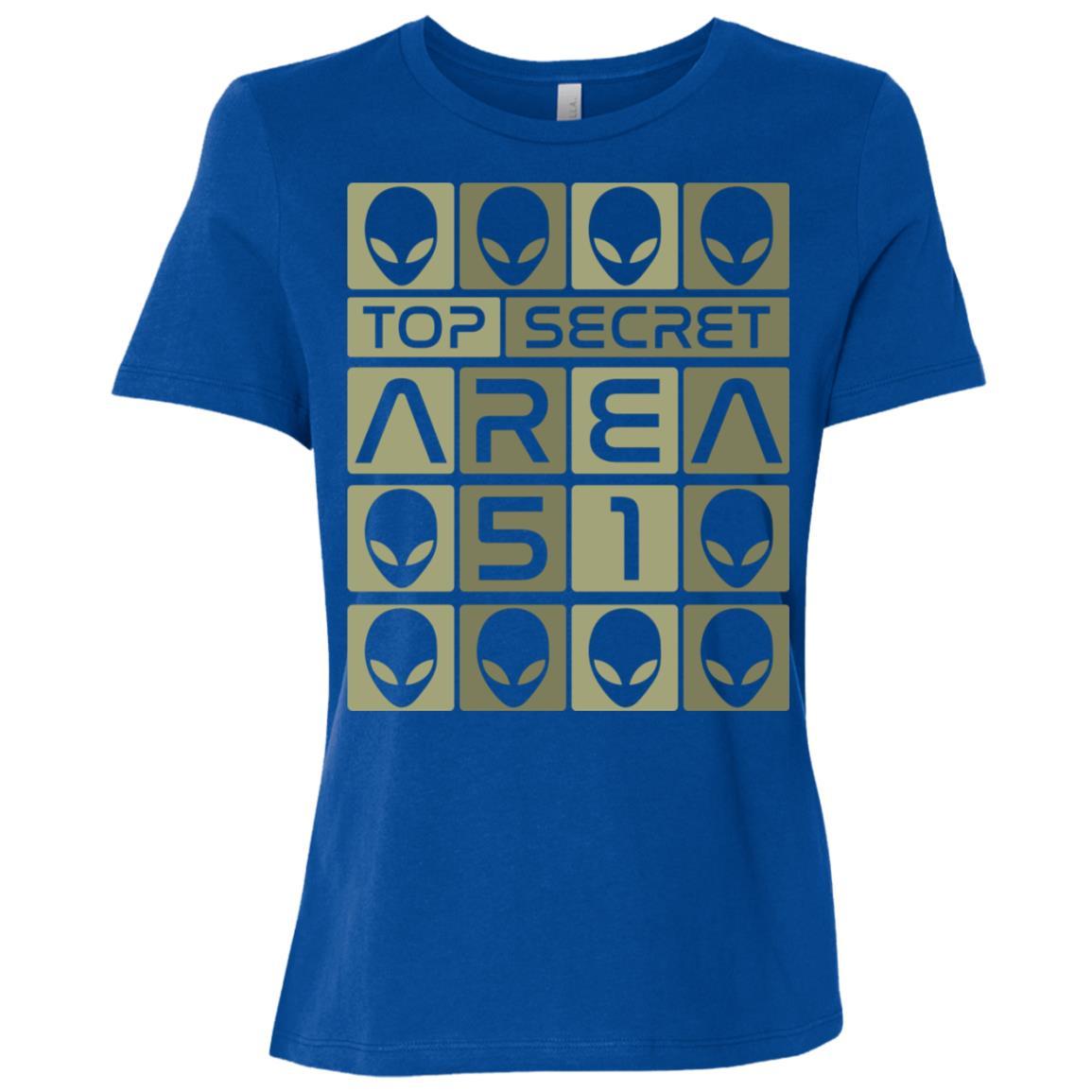 Ufo Top Secret Area 51 Women Short Sleeve T-Shirt