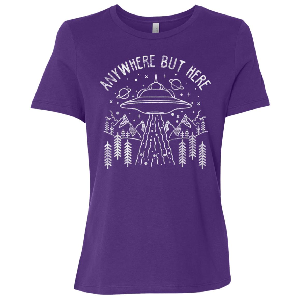 Ufo Abduction Alien Science Extraterrestrial Women Short Sleeve T-Shirt