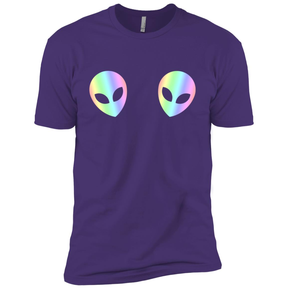Two Aliens Cool Funny Boobs Bra Top Tee Men Short Sleeve T-Shirt