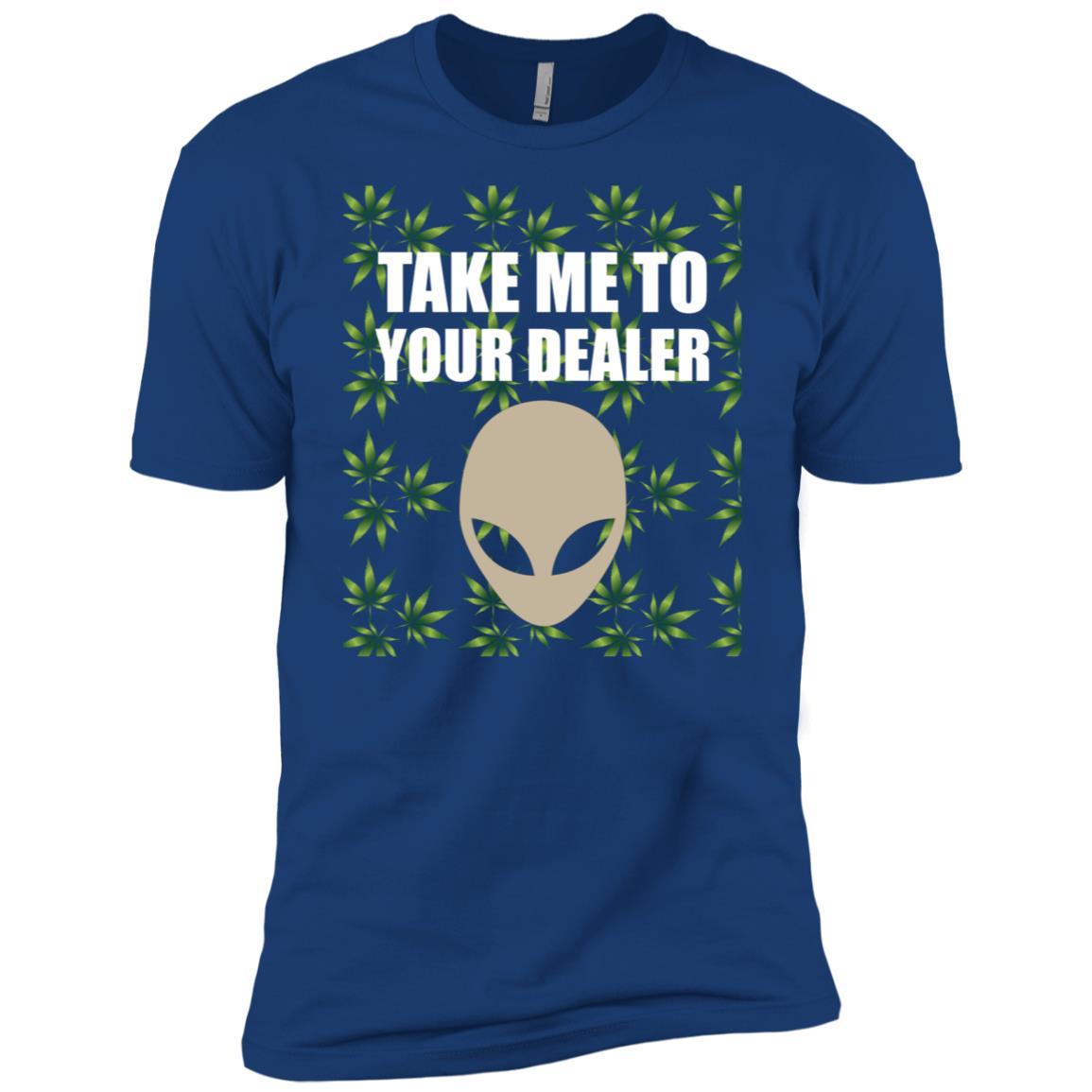 Take Me To Your Dealer Alien Weed gift-3 Men Short Sleeve T-Shirt