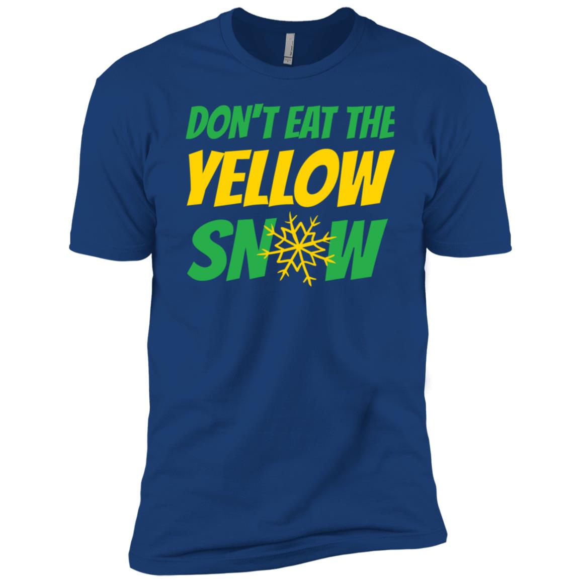 Don't Eat The Don't Eat The Snow Funny Men Short Sleeve T-Shirt