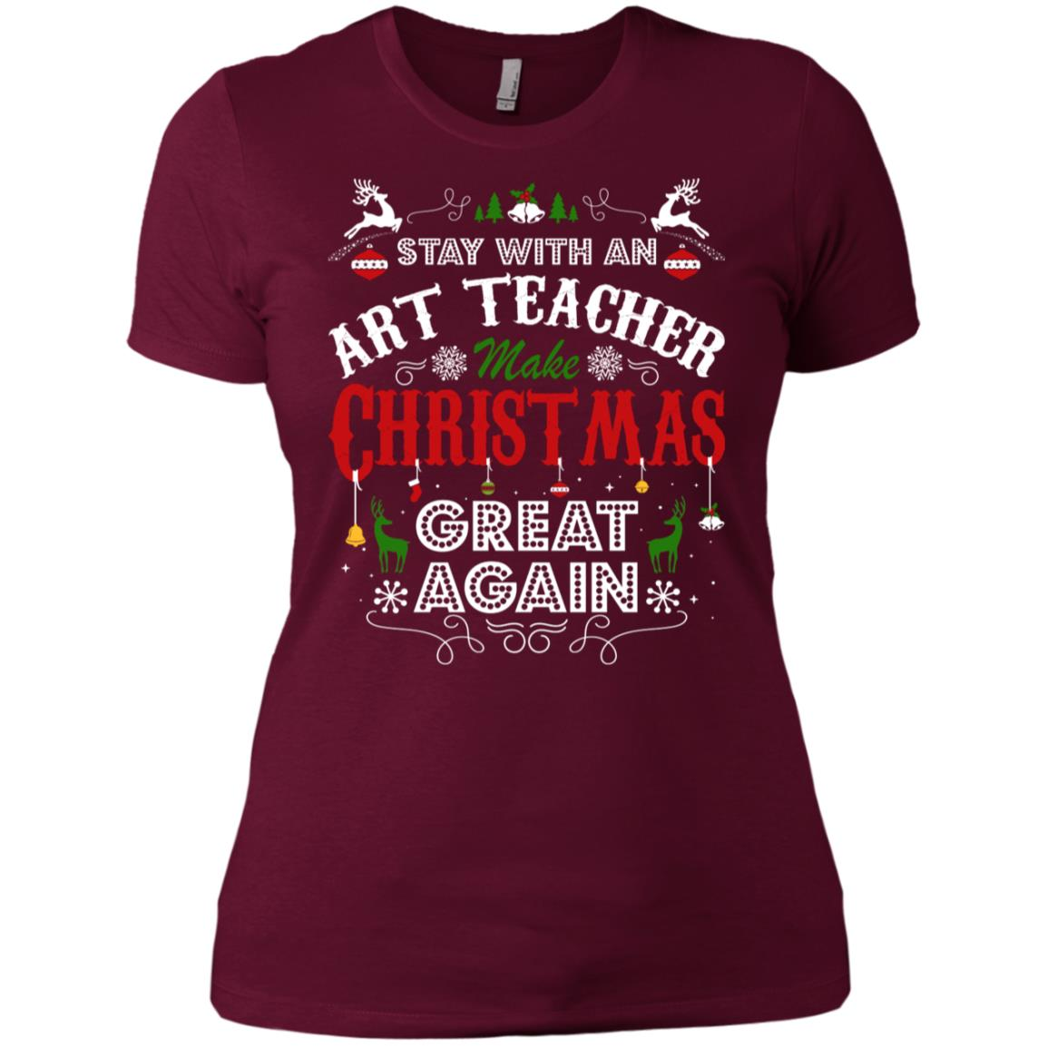 Art Teacher Make Christmas Great Again Women's Short Sleeve Shirts