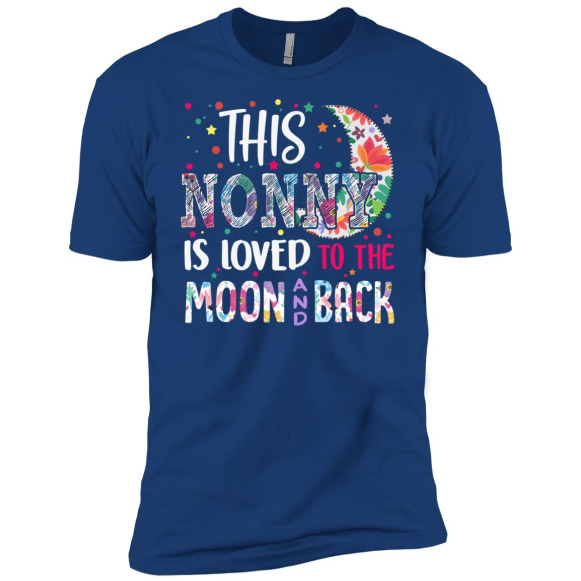 This Nonny is loved to the moon and back Men Short Sleeve T-Shirt