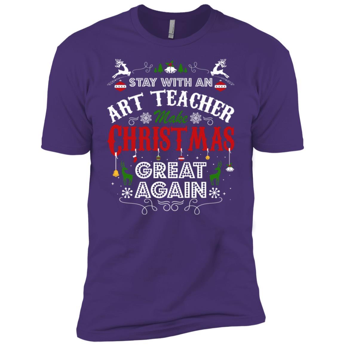 Art Teacher Make Christmas Great Again Men's Short Sleeve Shirts