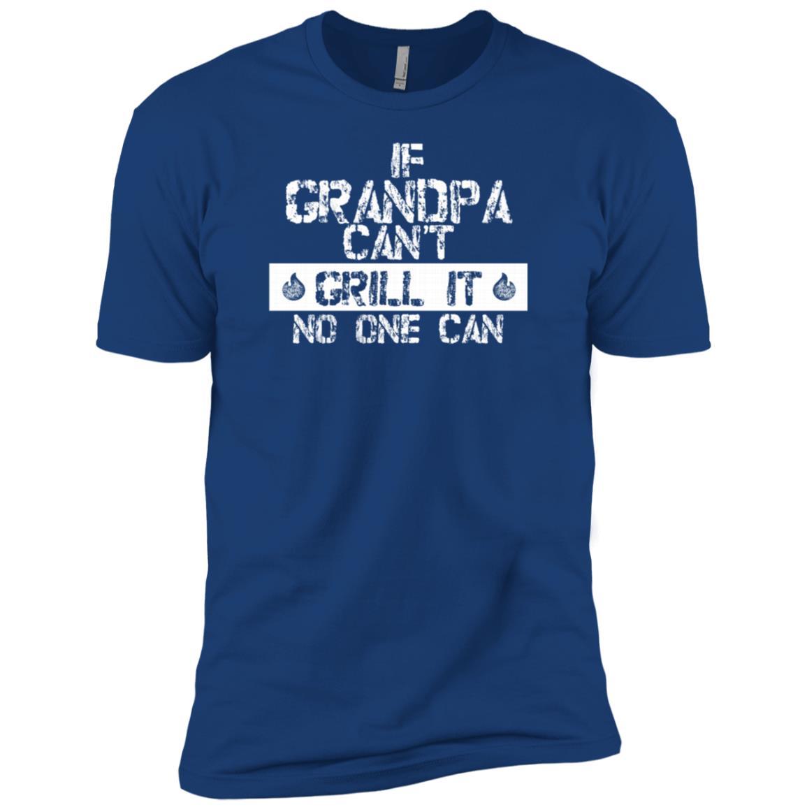 Back Print Grandpa Bbqs Funny Grilling Gift-4 Men Short Sleeve T-Shirt