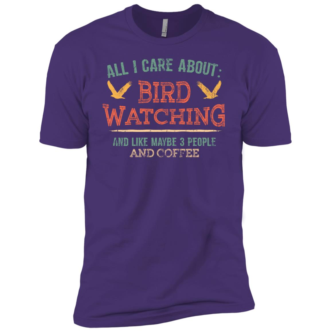 All I Care Bird Watching and Coffee Men Short Sleeve T-Shirt