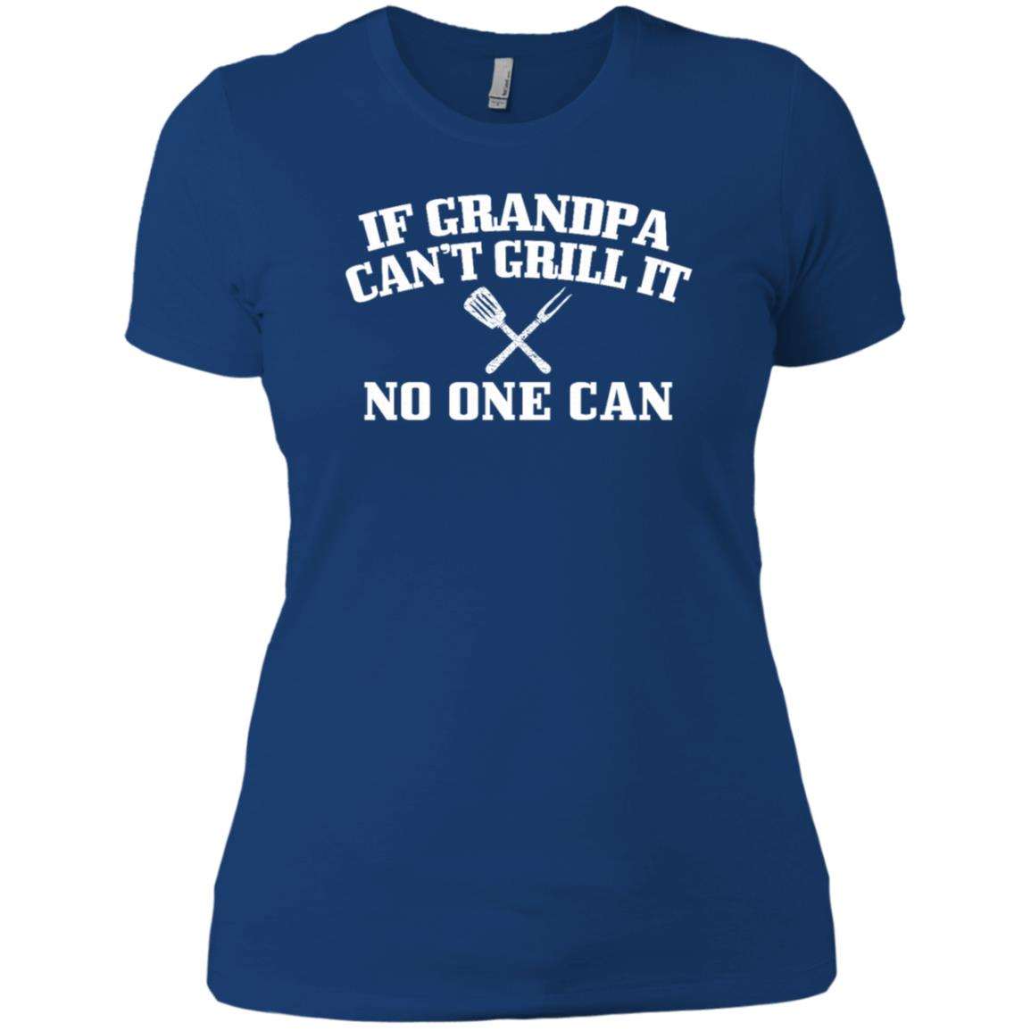 Back Print Grandpa Bbqs Funny Grilling Gift-5 Women Short Sleeve T-Shirt