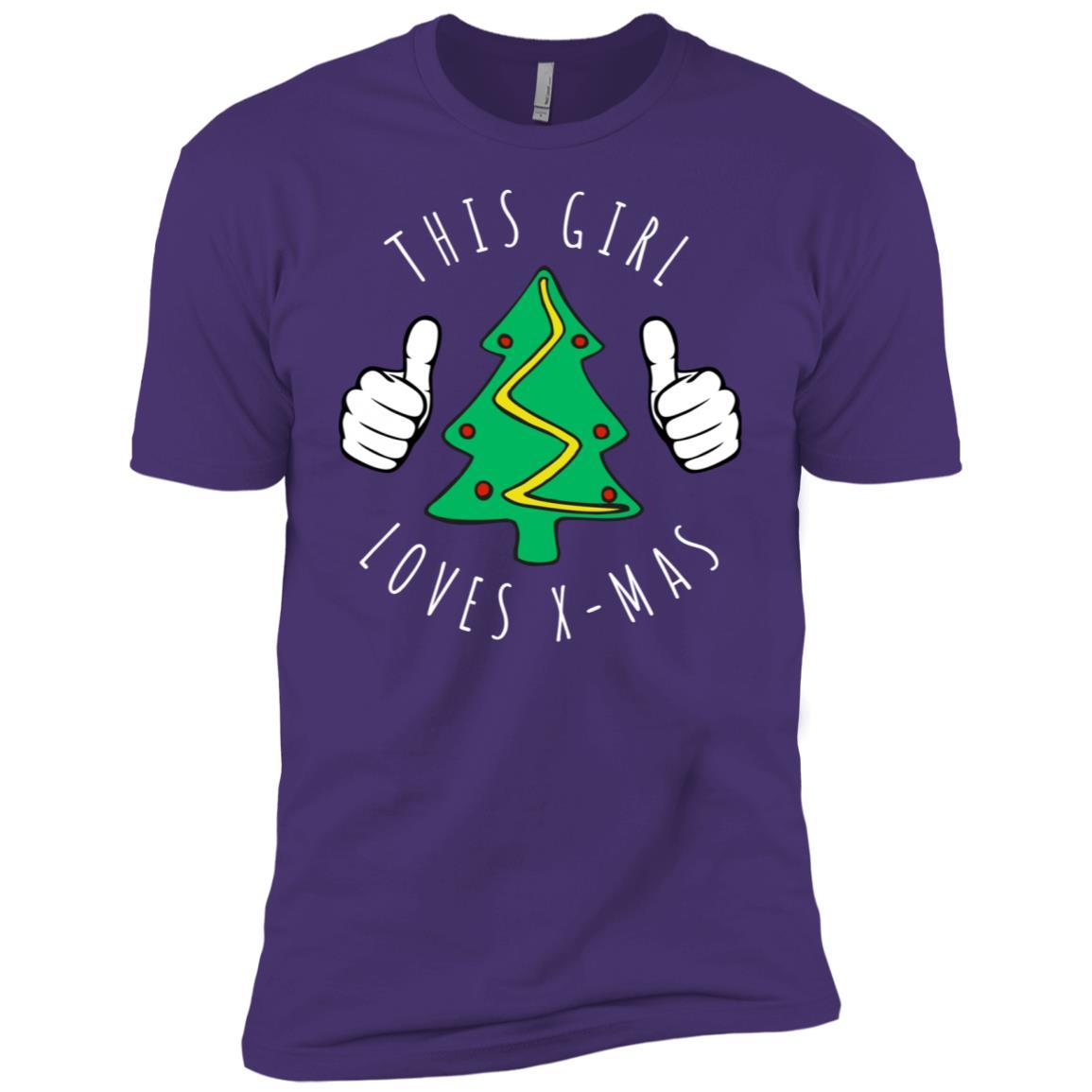 This Girl Loves X-mas Men Short Sleeve T-Shirt