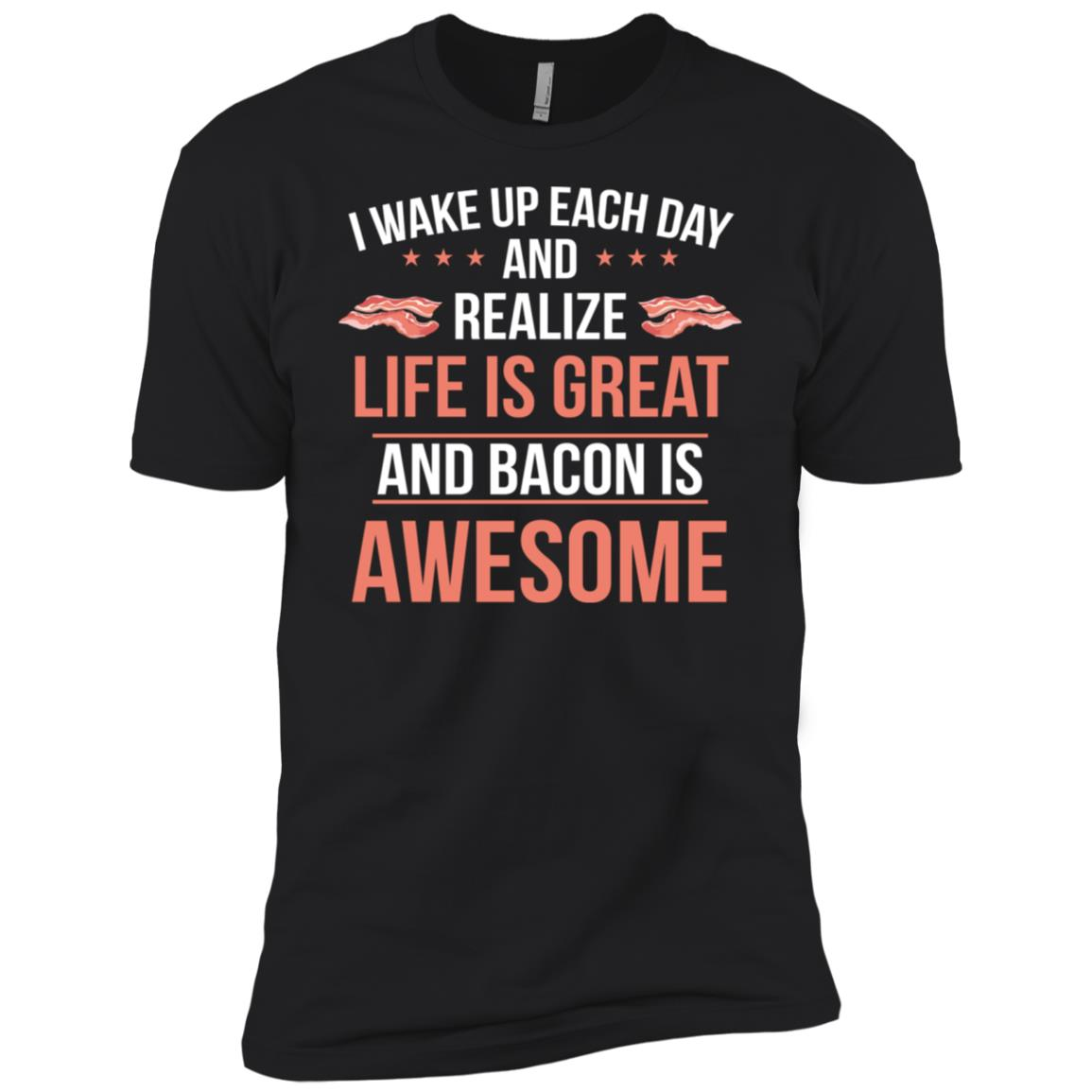 Bacon is Awesome Funny Meat Eater Bacon Lover Men Short Sleeve T-Shirt