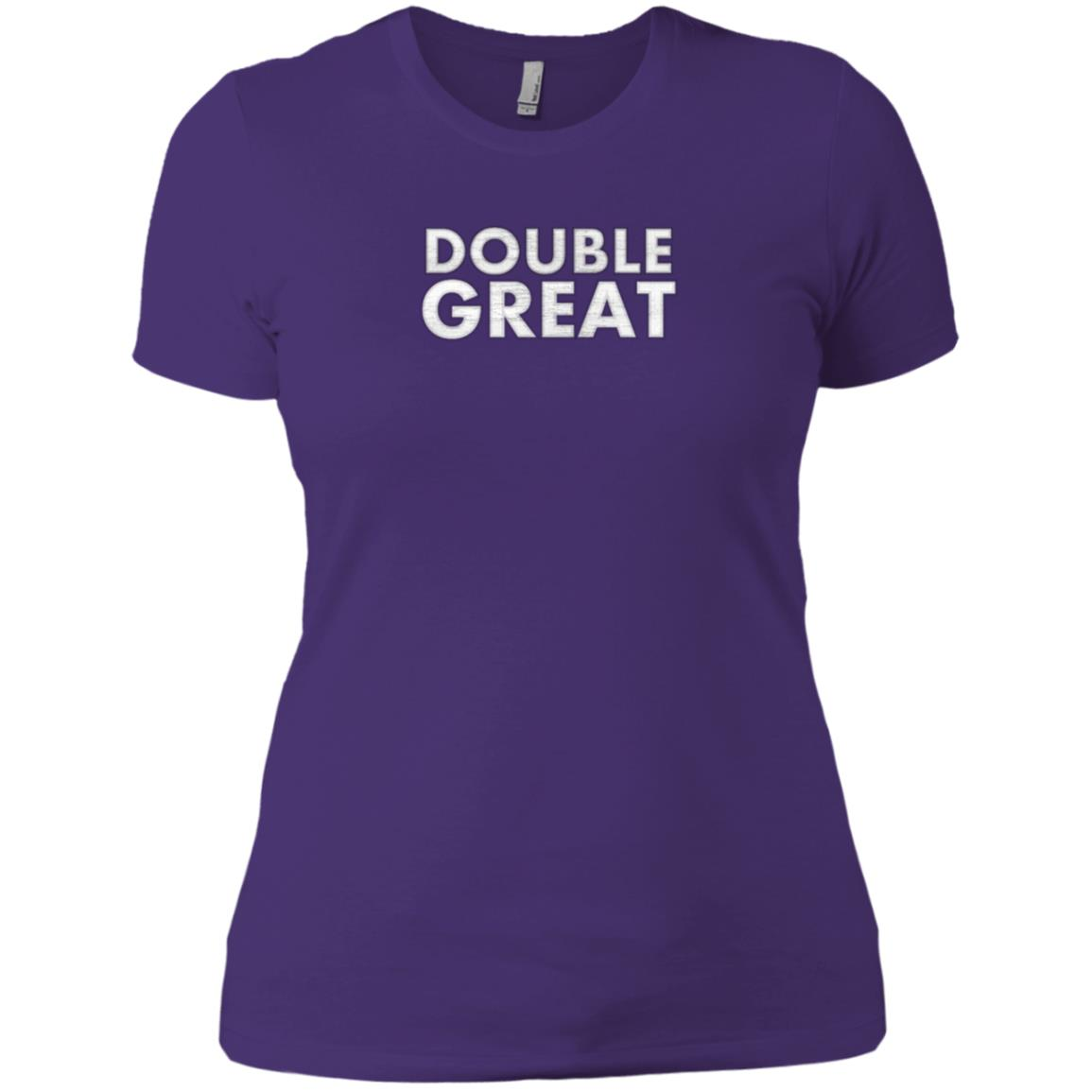 Be Double Great With the One You Love Women Short Sleeve
