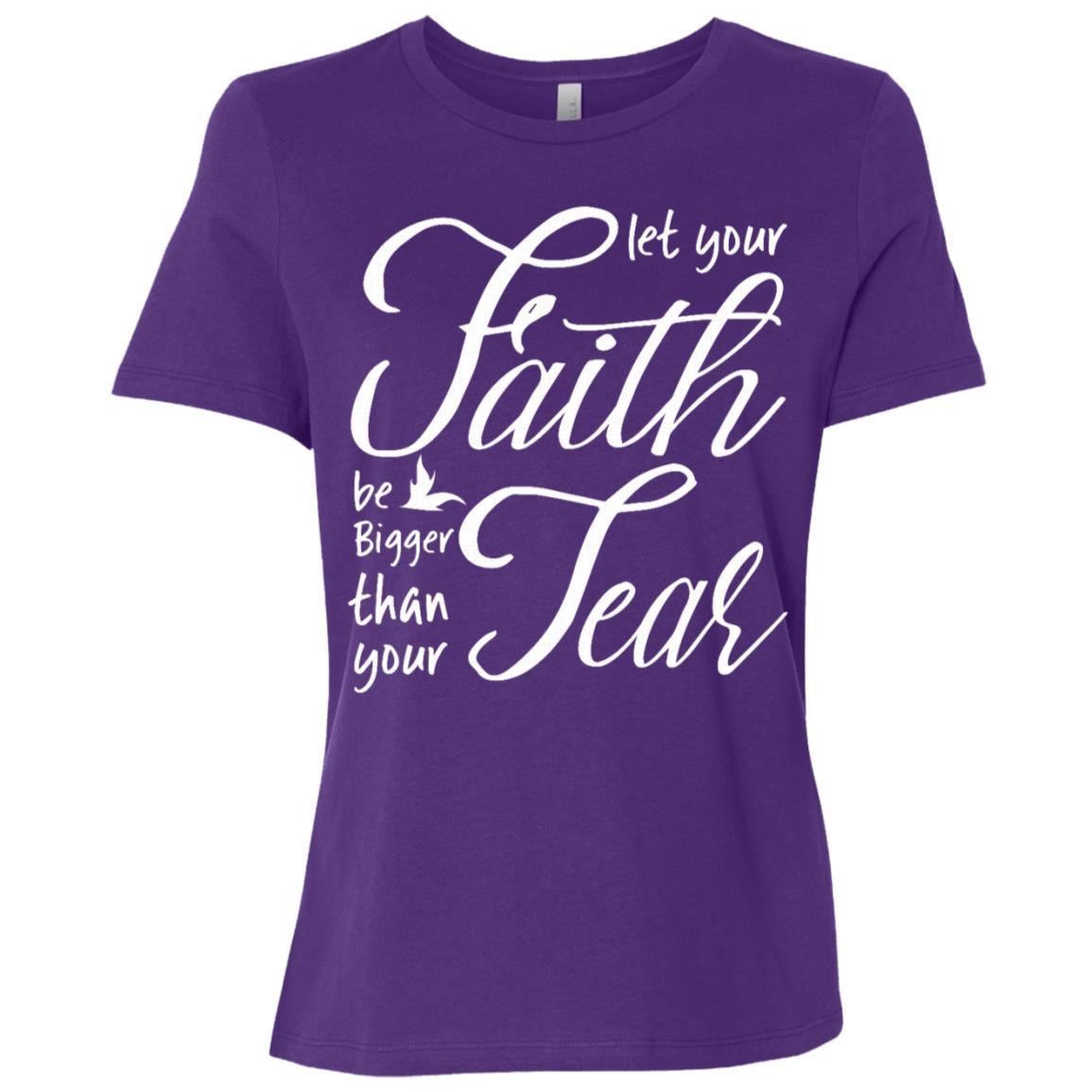 Let your faith be bigger than you fear Women Short Sleeve T-Shirt