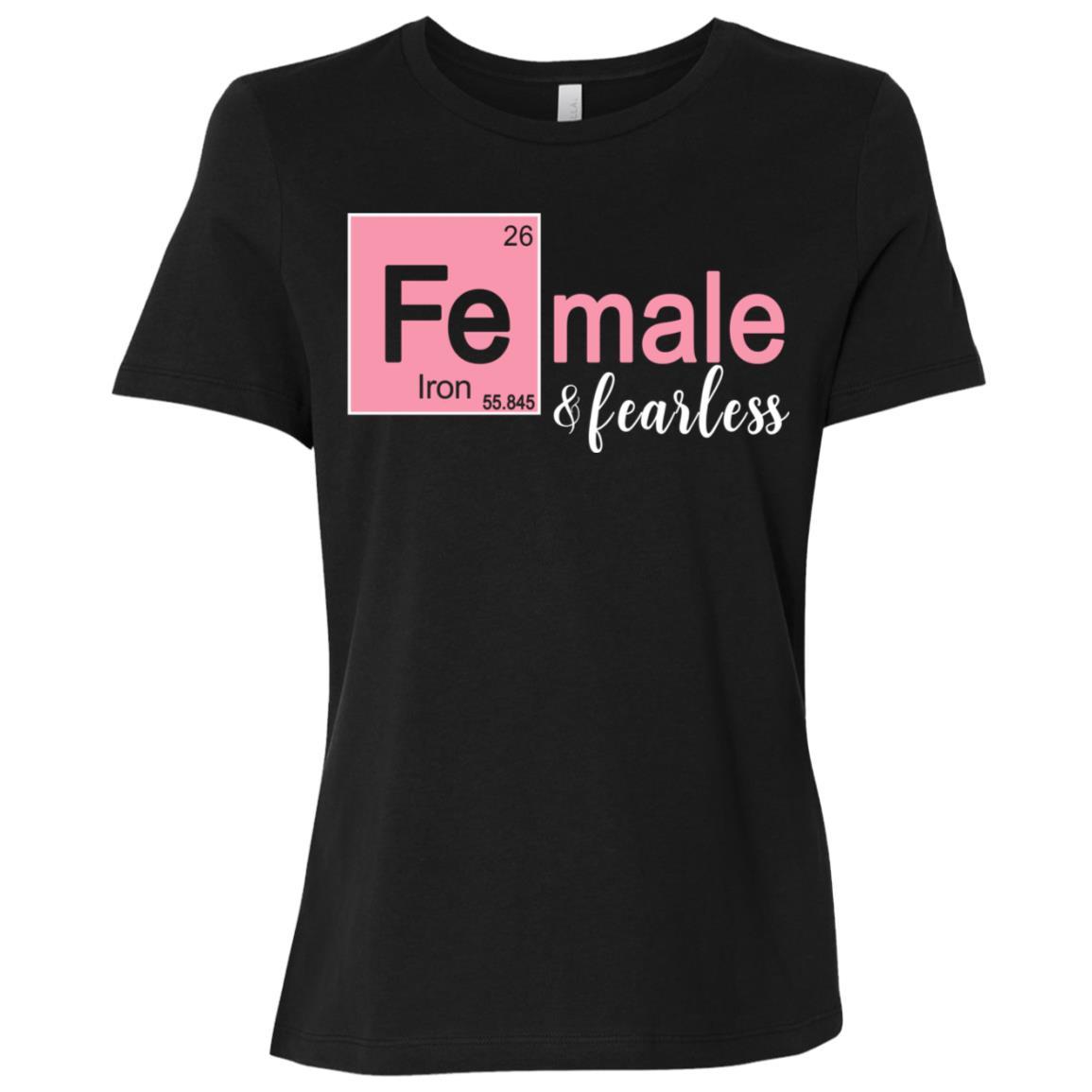 Female & Fearless Funny Stem Tee for Women & Girls Women Short Sleeve T-Shirt