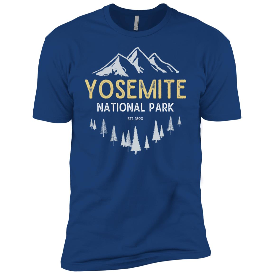Yosemite Vintage National Park Men Short Sleeve