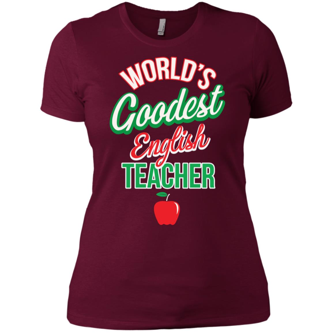 World's Goodest English Teacher Grammar Error Gift Ls Tee Women Short Sleeve