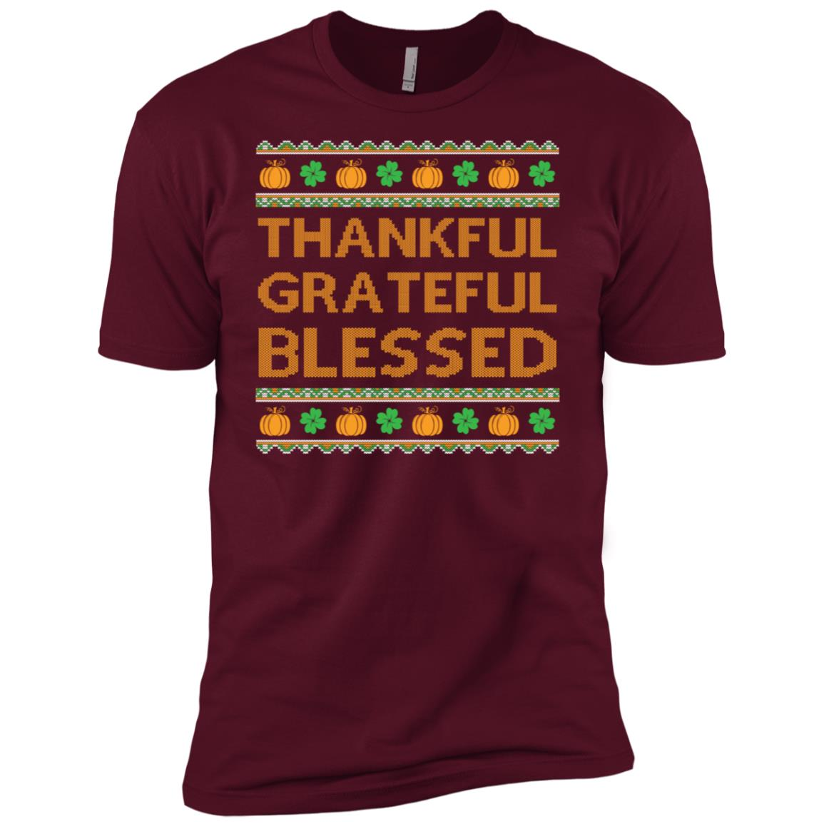 Grateful Thankful Blessed Urgly Sweater Men Short Sleeve T-Shirt