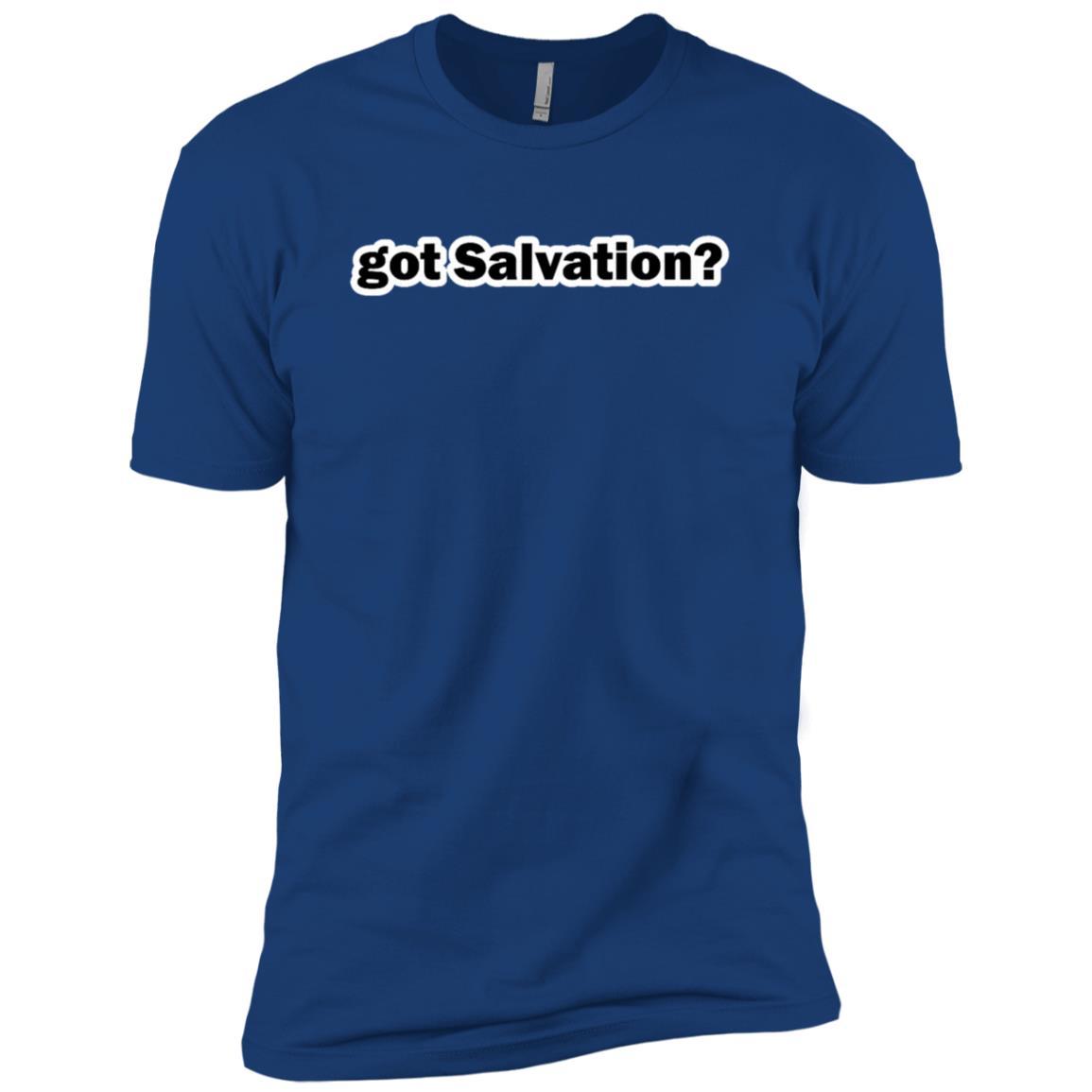 Got Salvation Classic funny text Christian tee Men Short Sleeve T-Shirt