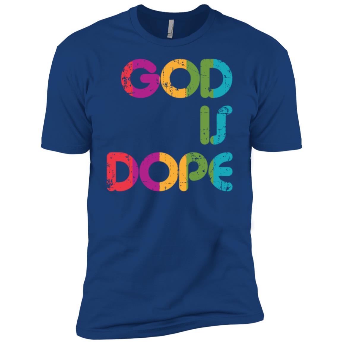 God is Dope Funny Christian Faith Believer Gift Men Short Sleeve T-Shirt