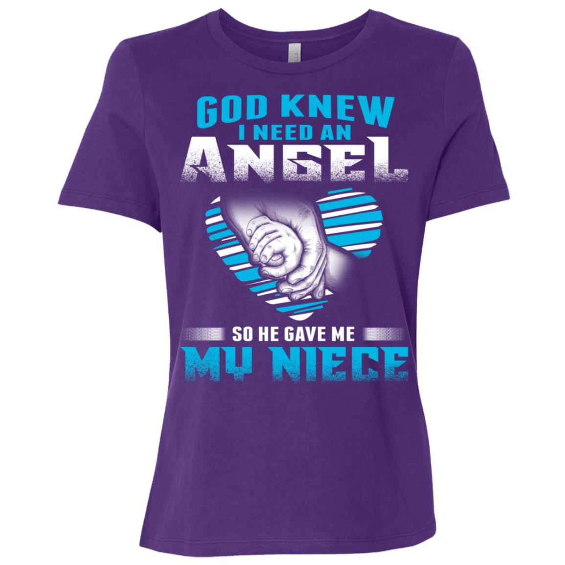 God Knew I Need An Angel So He Gave Me My Niece Women Short Sleeve T-Shirt