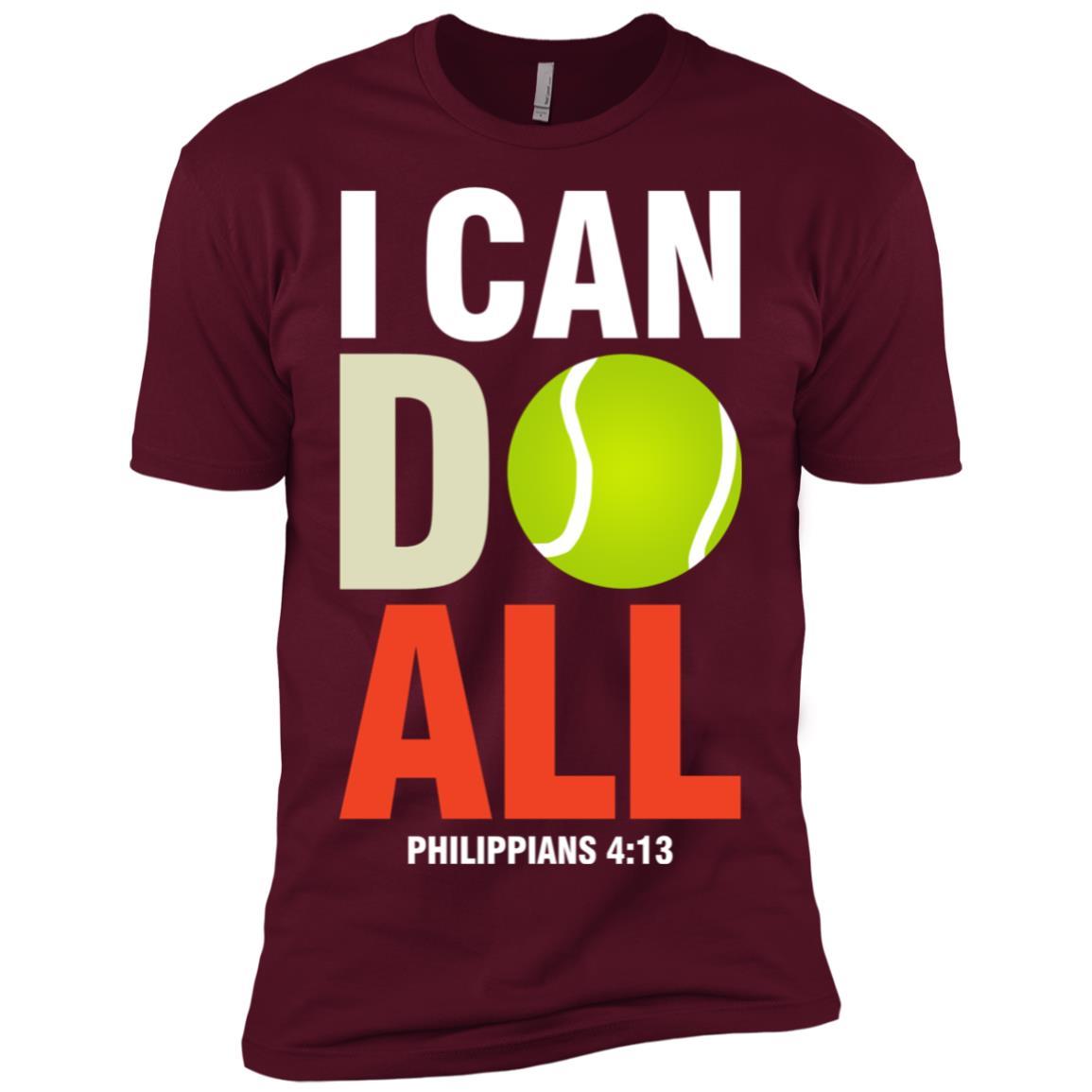 Tennis I Can Do All, Christian Men Short Sleeve T-Shirt