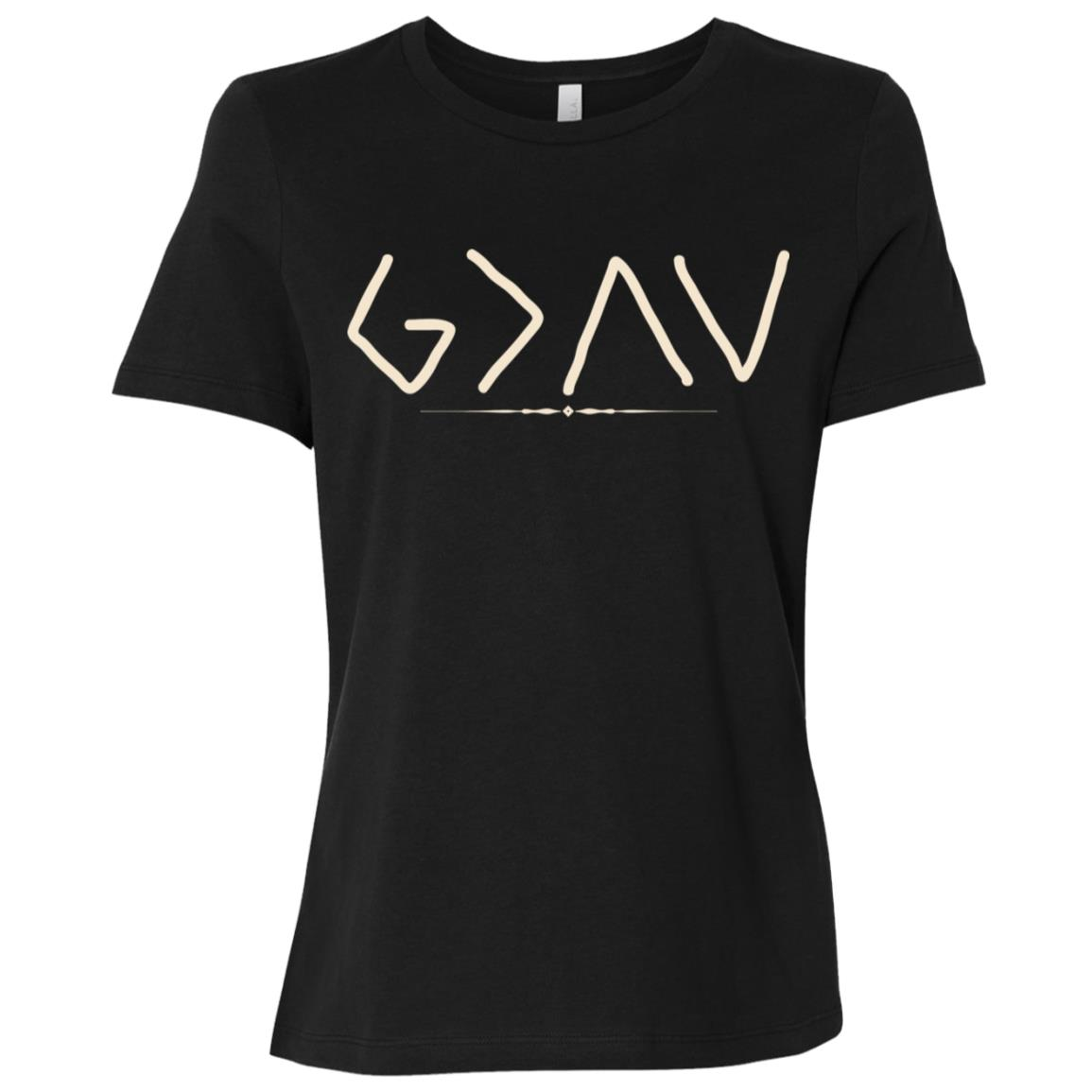 God is Greater Than the Highs and Lows Women Short Sleeve T-Shirt