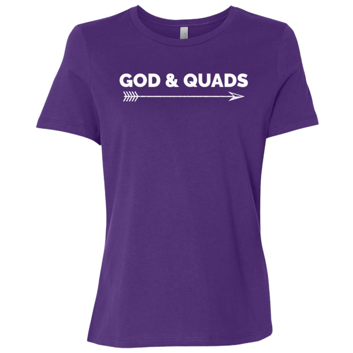 God & Quads! Funny Christian Workout Gym Gift Women Short Sleeve T-Shirt