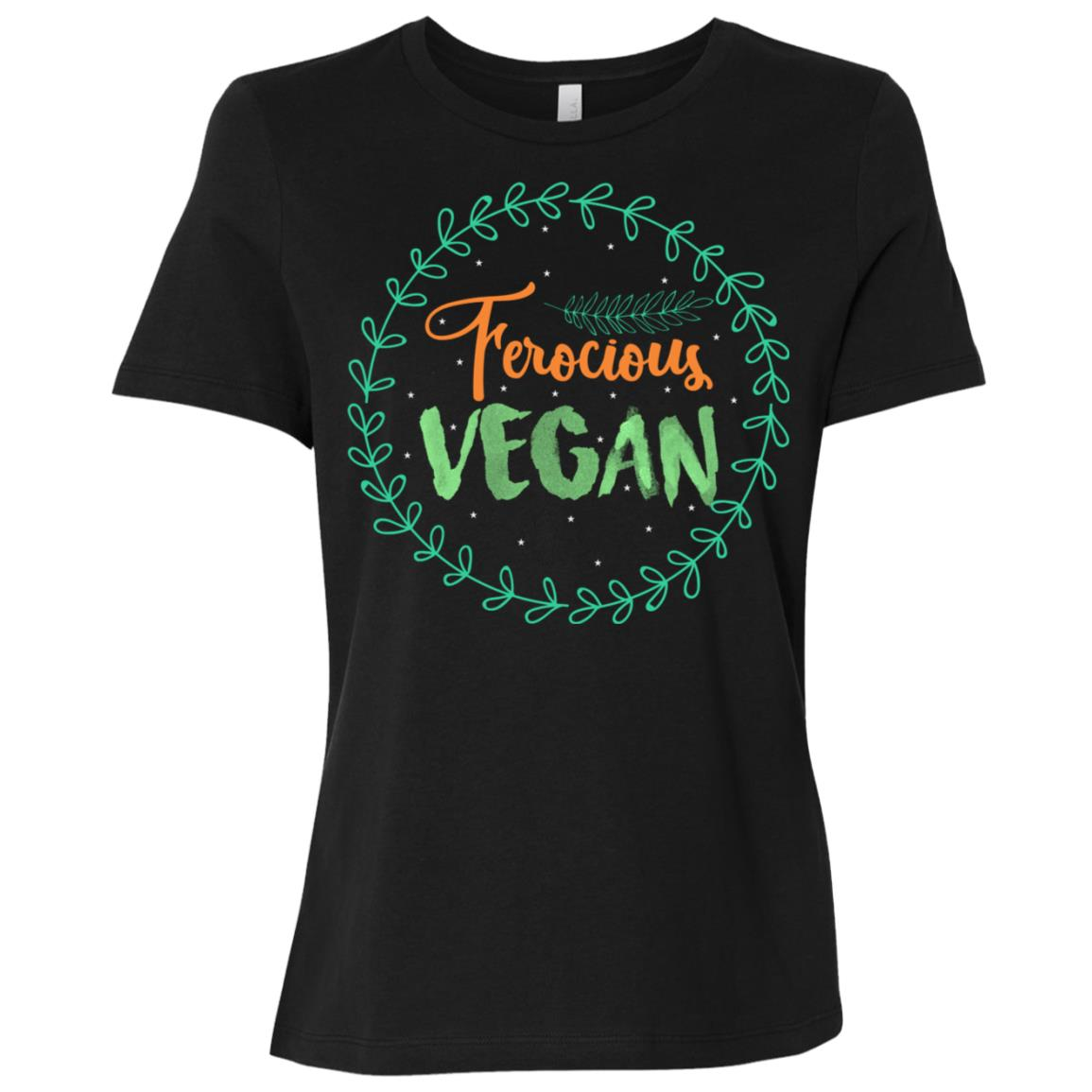 Funny Ferocious Vegan Life s Gift Ideas Men Women Kid Women Short Sleeve T-Shirt