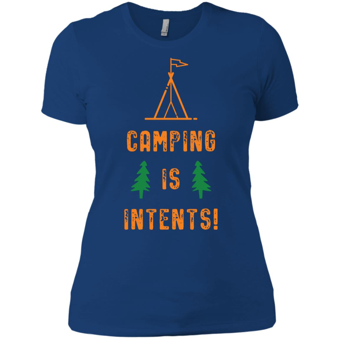 Camping is Intents! Women Short Sleeve