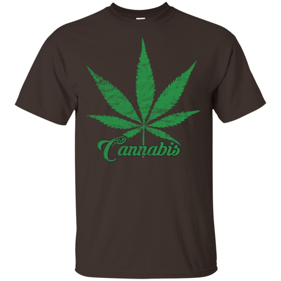 Cannabis Marijuana Distressed Retro Vintage 420-1 Unisex Short Sleeve