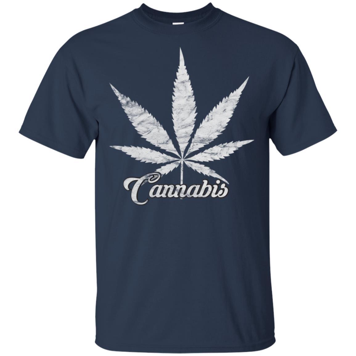 Cannabis Marijuana Distressed Retro Vintage 420 Unisex Short Sleeve