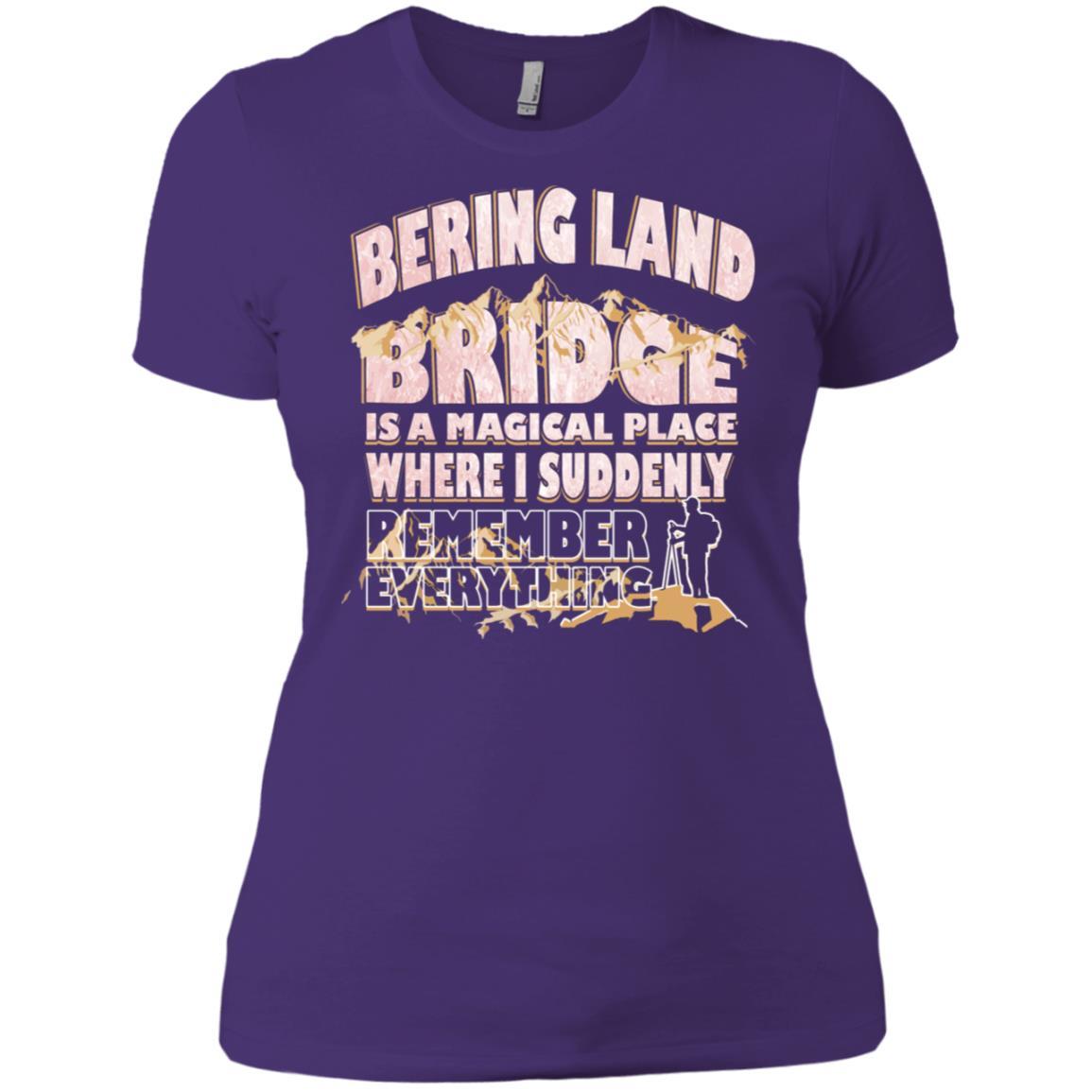 Bering Land Bridge Magical Place Remember Everything -2 Women Short Sleeve