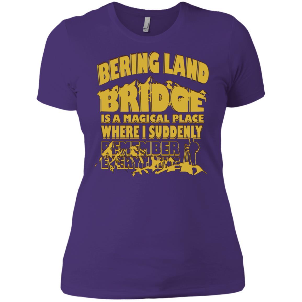 Bering Land Bridge Magical Place Remember Everything -1 Women Short Sleeve