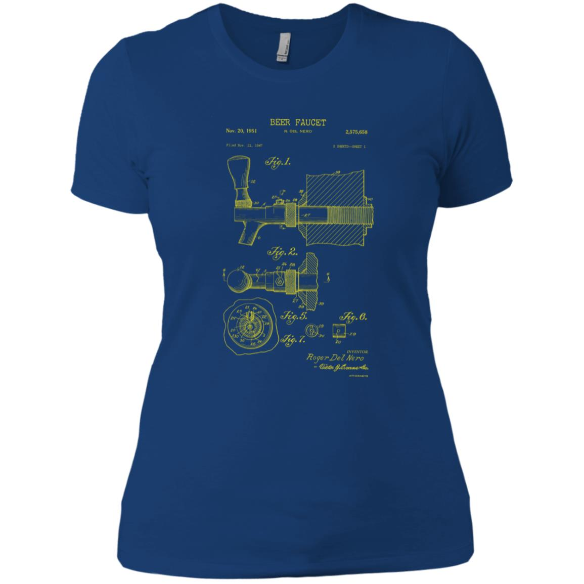 Beer Tap Patent Blueprint Gift for Brewer Women Short Sleeve
