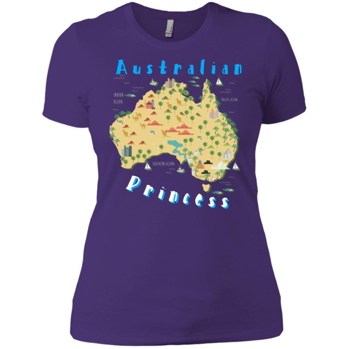 Australian Princess Australia Vacation Map Women Short Sleeve