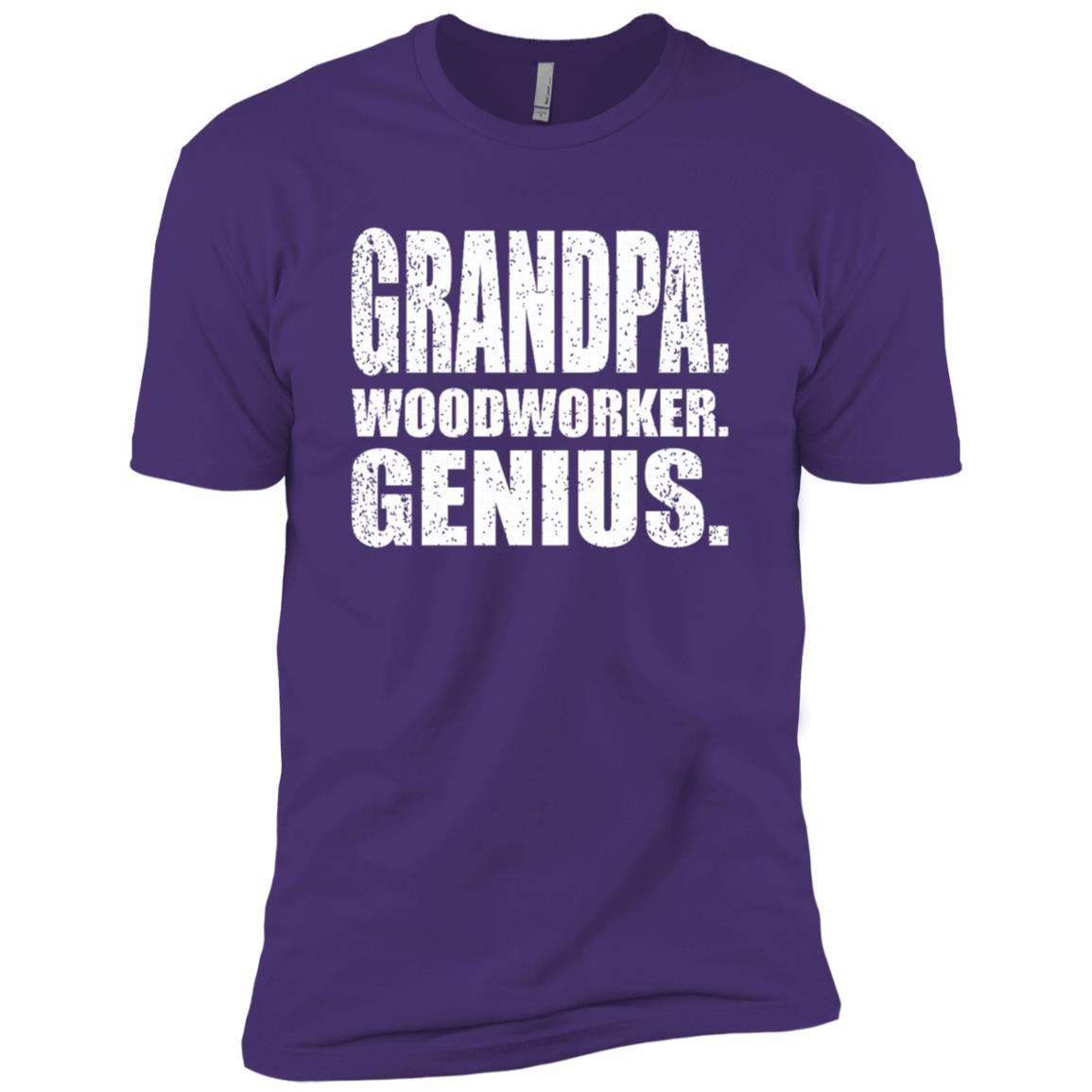 Woodworker Genius Funny Men Grandpa Woodworking -1 Men Short Sleeve
