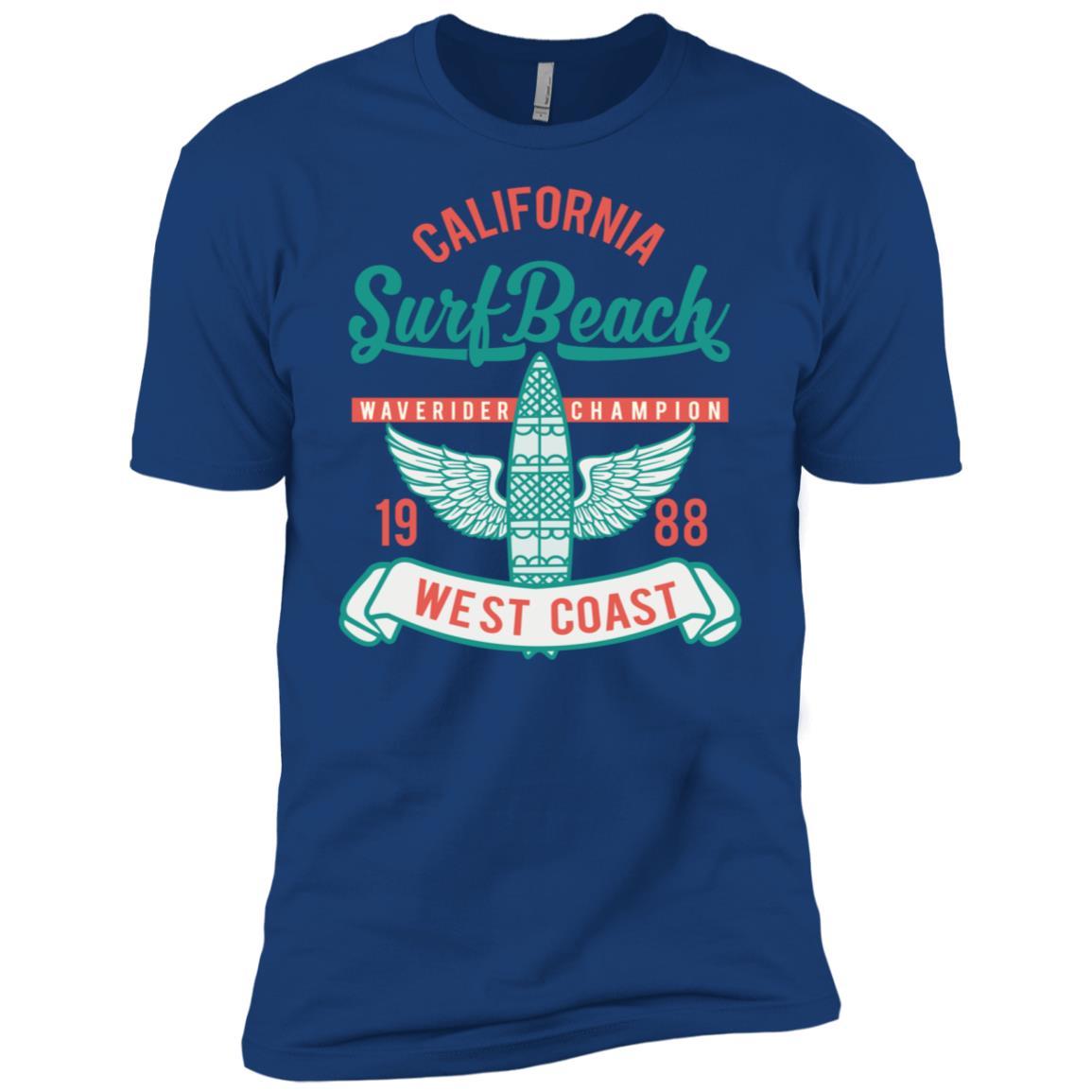 California West Coast Surfing Paradise Men Short Sleeve